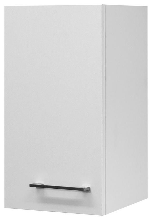 Küchenoberschrank Weiß - Edelstahlfarben/Weiß, MODERN, Holzwerkstoff/Metall (30/54/32cm)