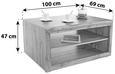 Klubska Miza Tizio - hrast/srebrna, Moderno, leseni material (100/47/69cm) - Zandiara