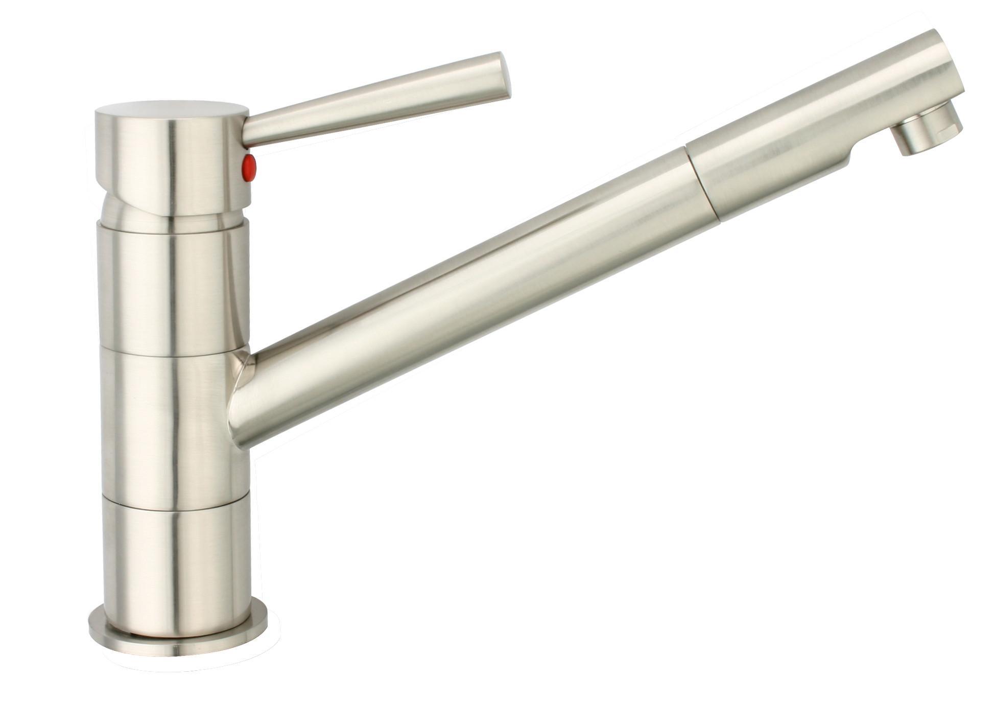 Spültischarmatur Cornwallin Edelstahlfarben - Edelstahlfarben, LIFESTYLE, Kunststoff/Metall (18cm)