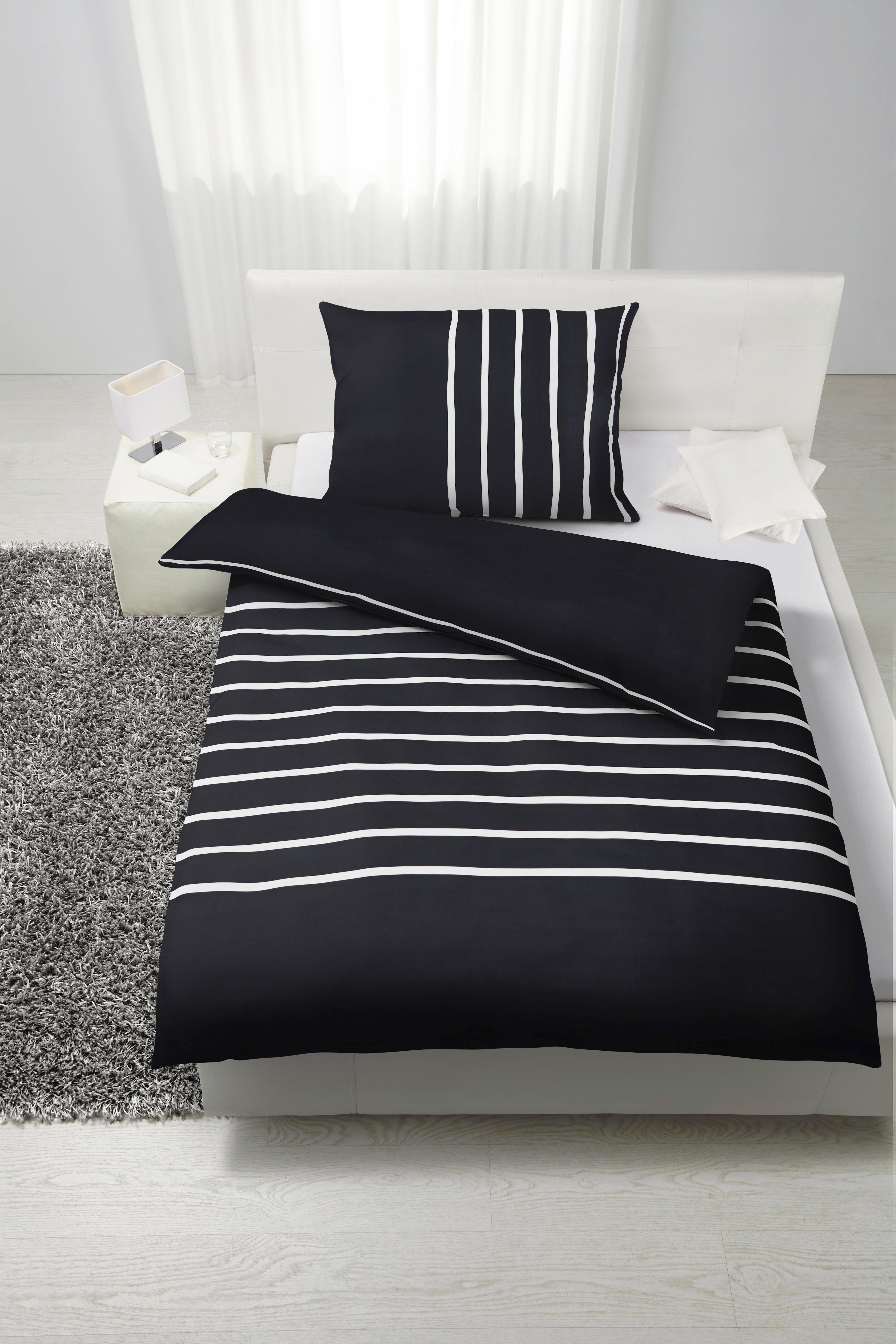 Ágyneműhuzat-garnitúra Tamara - fekete, modern, textil (140/200cm) - MÖMAX modern living