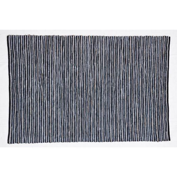 Handwebteppich Stefan Grau ca. 160/230cm - Anthrazit, MODERN, Leder/Textil (160/230cm) - Mömax modern living