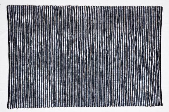 Handwebteppich Stefan in Grau ca. 160/230cm - Anthrazit, MODERN, Leder/Textil (160/230cm) - Mömax modern living