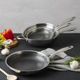 Bratpfanne Gourmet Ø ca. 24cm - Silberfarben, KONVENTIONELL, Metall (24/4,7cm) - Premium Living