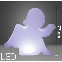 LED-Dekoleuchte in Weiß ca. 85/77 cm 'Angel' - Weiß, MODERN, Kunststoff (85/17/77cm) - Bessagi Home