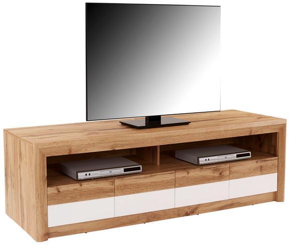Tv-element Kashmir New - črna/hrast, Moderno, leseni material (185/50/49cm) - Zandiara