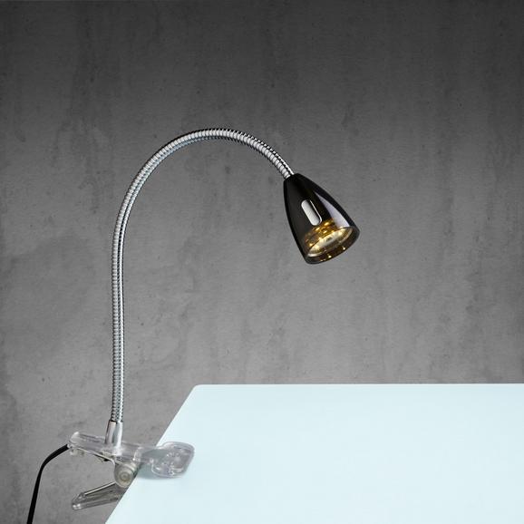Led-klemmleuchte Pino - Schwarz, MODERN, Glas/Kunststoff (10/6/43,8cm) - Mömax modern living