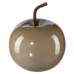 Dekoapfel Provence I Grau - Grau, Keramik (8/6,5cm)