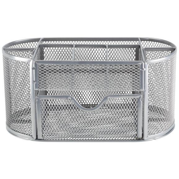 Stiftehalter Mesh Grau - Grau, MODERN, Metall (22,3/10,5/11cm) - Mömax modern living