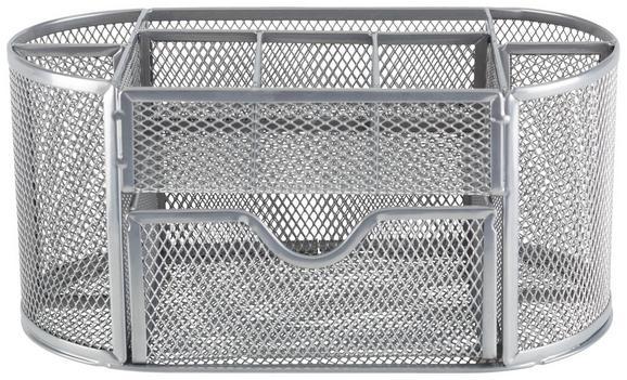 Stiftehalter Mesh in Grau - Grau, MODERN, Metall (22,3/10,5/11cm) - Mömax modern living