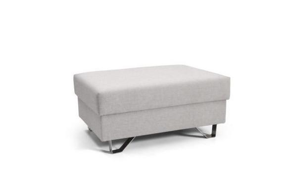 Tabure Mohito - krom/bež, Moderno, kovina/tekstil (64/43/92cm) - Premium Living