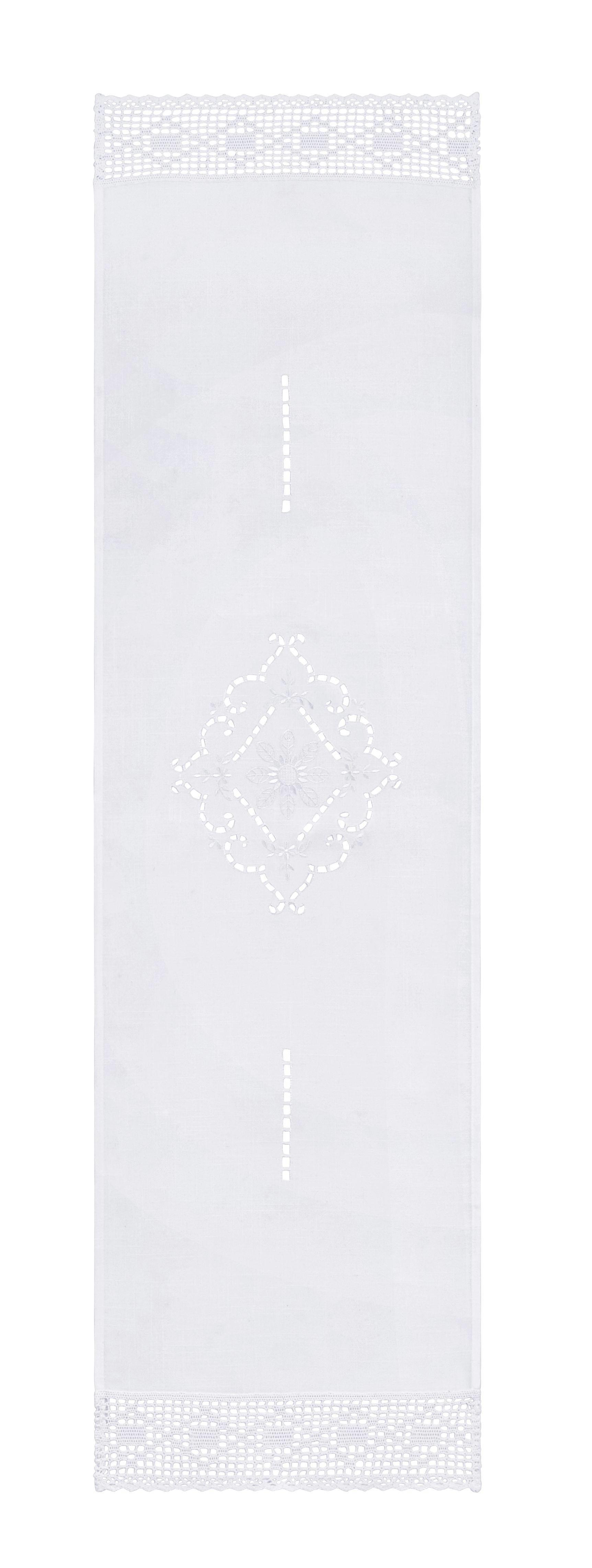 TISCHLÄUFER Spitze in Weiß - Weiß, ROMANTIK / LANDHAUS, Textil (40/150cm) - MÖMAX modern living