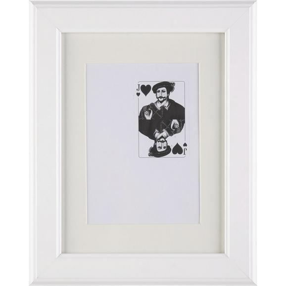 BILDERRAHMEN PROVENCE, ca. 18x24cm - Weiß, ROMANTIK / LANDHAUS, Glas/Holz (18/24/3,6cm) - Mömax modern living