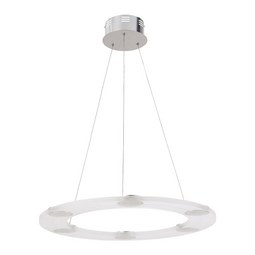 LED-Hängeleuchte max. 60 Watt 'Luis' - Chromfarben, Kunststoff/Metall (60/60/120cm) - Bessagi Home