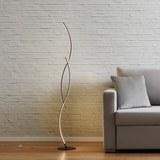 LED-Stehleuchte Zara - Silberfarben, MODERN, Metall (21/145/21cm) - Modern Living
