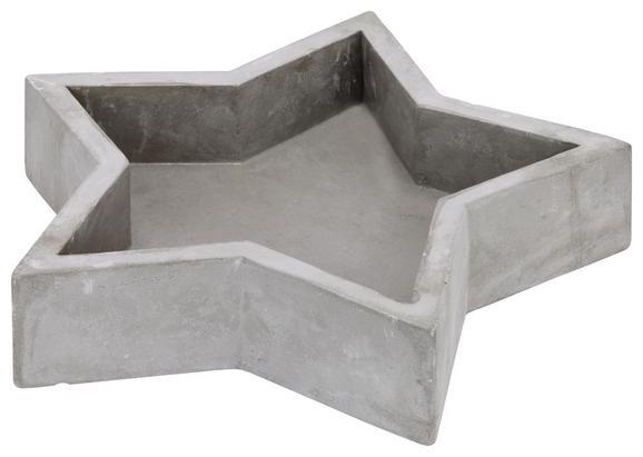 Dekoschale Christa Grau - Grau, Keramik (25/5cm)
