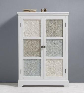 Kleiderschrank Avery - Multicolor, MODERN, Holz/Metall (85/120/38cm) - Premium Living