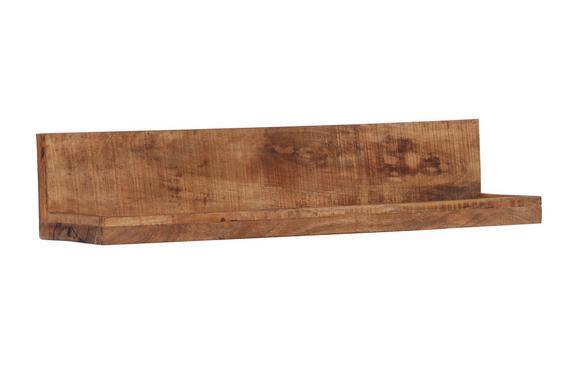 Wandboard in Braun - Naturfarben, LIFESTYLE, Holz (100/20/25cm) - ZANDIARA