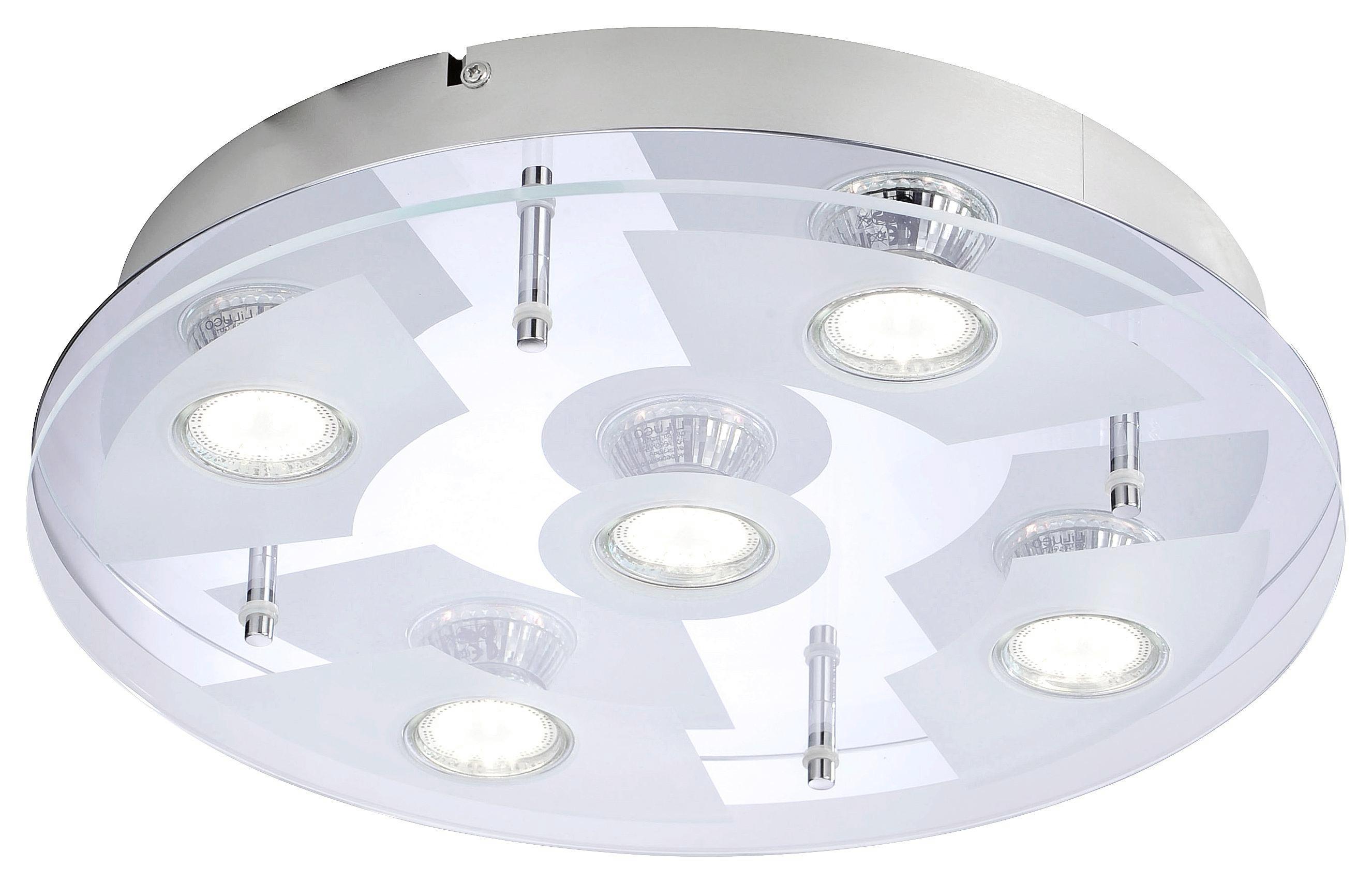 Deckenleuchte Stefan, max. 3 Watt - Chromfarben, KONVENTIONELL, Glas/Metall (36/8cm) - MÖMAX modern living