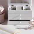 Cutie Pentru Bijuterii Julie - alb, sticlă/compozit lemnos (25/17/15cm) - Modern Living