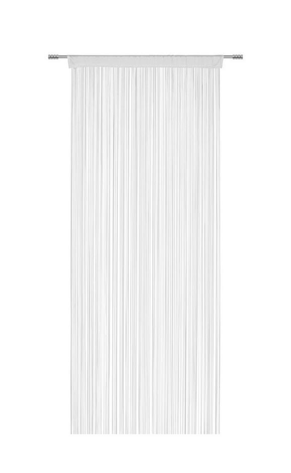 Nitasta Zavesa Promotion - bela, Konvencionalno, tekstil (90 200 cm) - Based