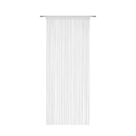 Perdea Cu Franjuri Promotion - Alb, Konventionell, Material textil (90/200cm) - Based