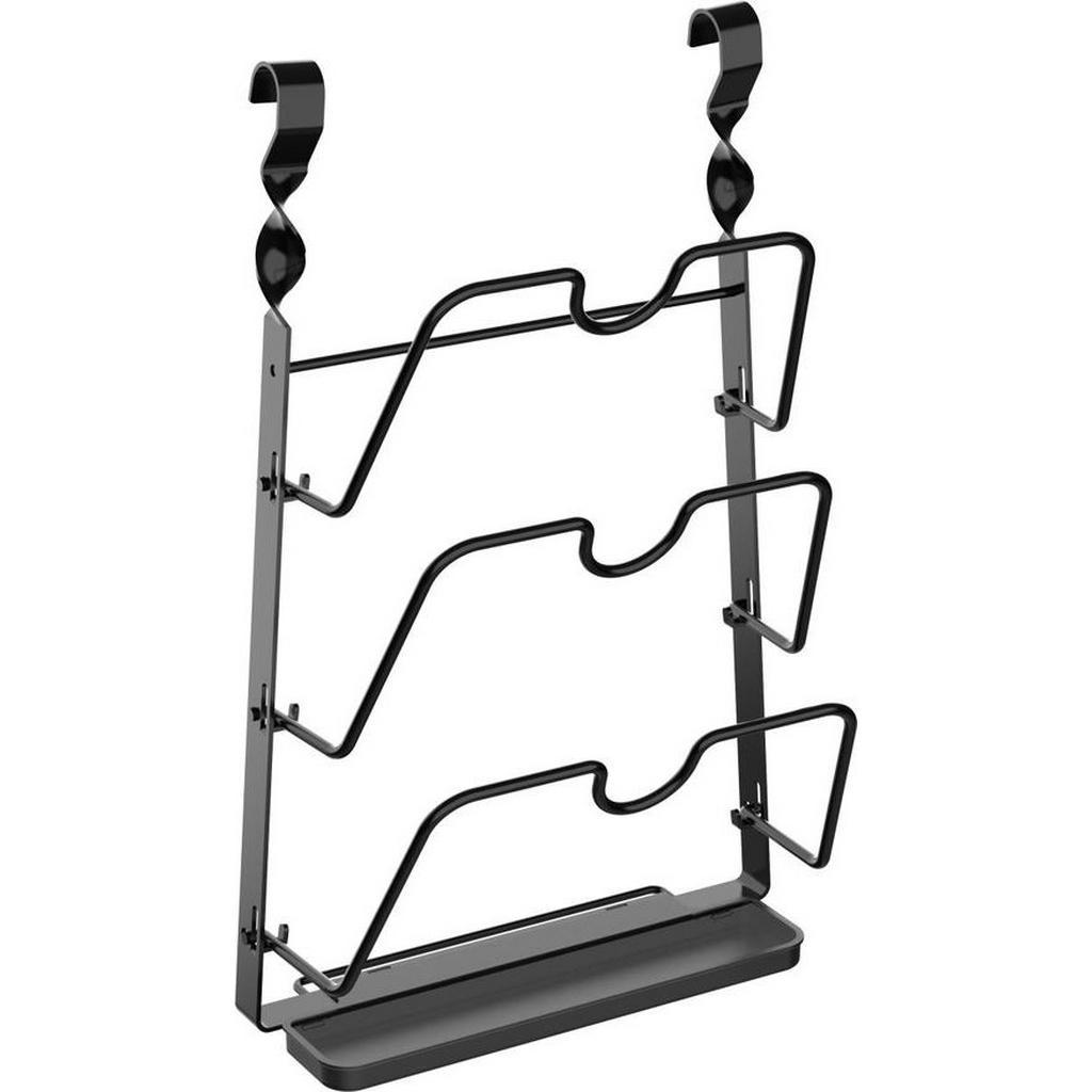 Deckelhalter Chester aus Metall in Schwarz