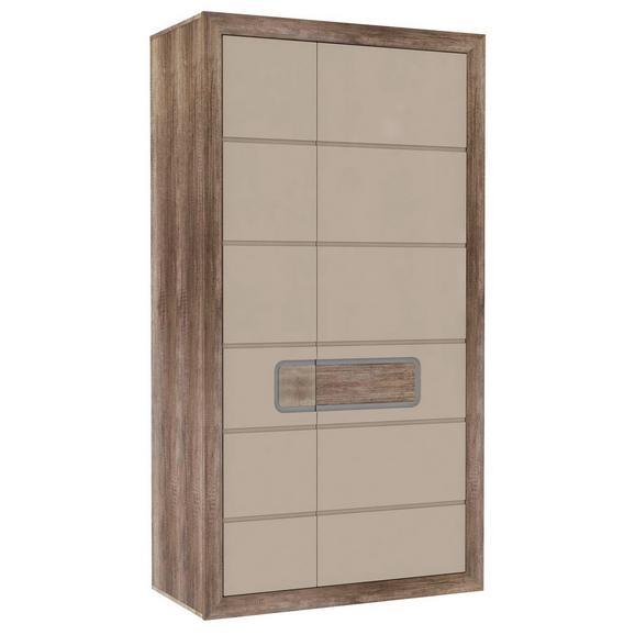 Omara Za Oblačila Tiziano - hrast/bež, Moderno, kovina/umetna masa (108,8/203,4/54,2cm) - Mömax modern living