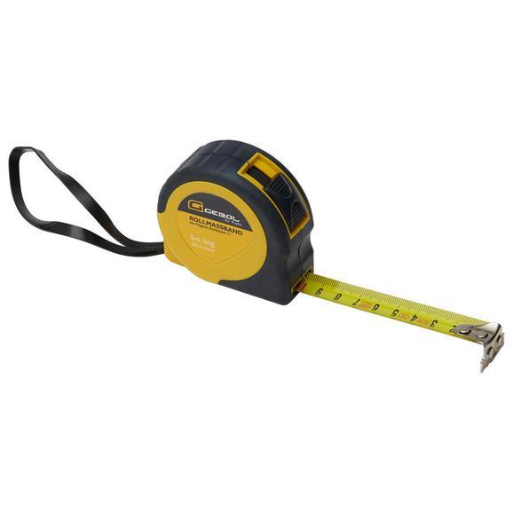 Rollmaßband Rolli, 5 Meter - Gelb/Grau, Kunststoff/Metall