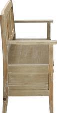 Sitzbank Savannah Antik - Braun, Holz/Metall (111/91/50cm) - PREMIUM LIVING