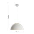 Pendelleuchte Marit - Weiß, MODERN, Metall (40/120/cm) - Modern Living