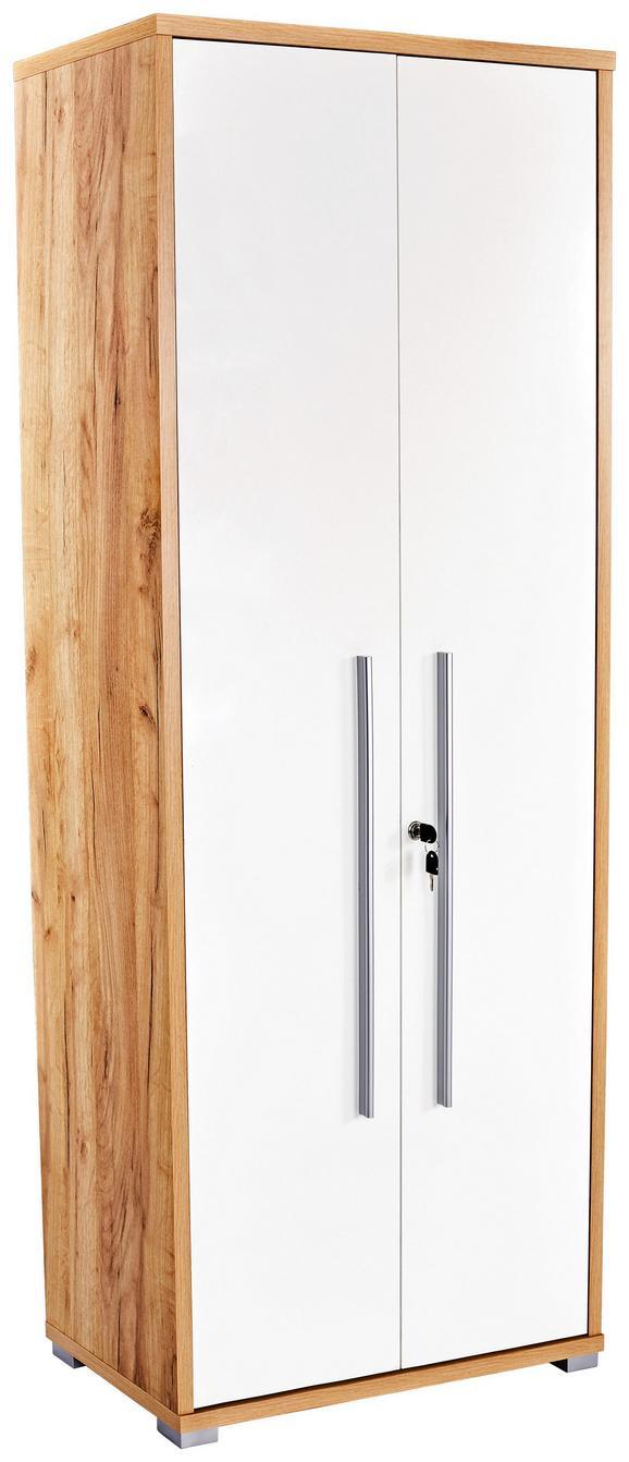 Pisarniška Omara Profi - hrast/bela, Moderno, leseni material (75/185/35cm) - Mömax modern living