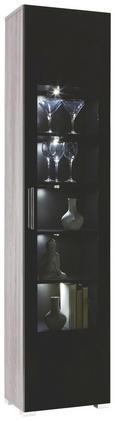 Vitrine Grau Lärche - Chromfarben/Silberfarben, MODERN, Holzwerkstoff/Kunststoff (45/199/35cm) - Premium Living