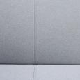 Sofa Faith mit Schlaffunktion inkl. Kissen - Hellgrau, MODERN, Holz/Textil (186/73/83cm) - Modern Living