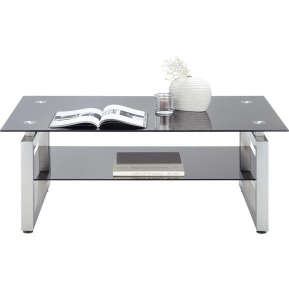 Dohányzóasztal Fekete Üveglap Nevada - Króm/Fekete, modern, Üveg/Fém (118/46/78cm) - Mömax modern living