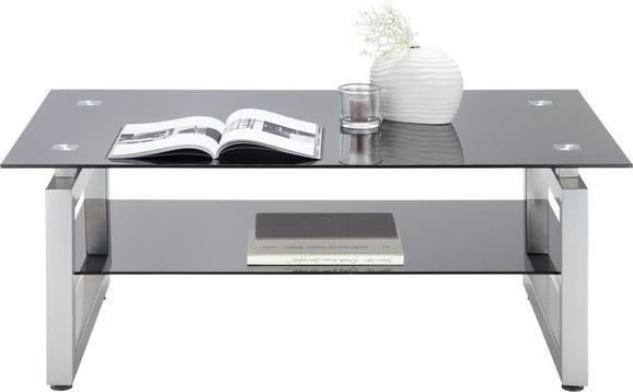 Klubska Miza Nevada - črna/krom, Moderno, kovina/steklo (118/46/78cm) - Mömax modern living
