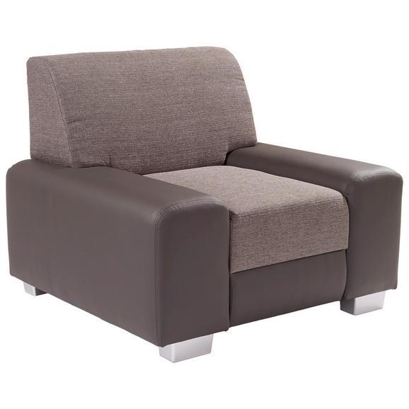 Fotelja Miami - siva/svijetlo siva, Modern, drvo/metal (104/81/90cm)