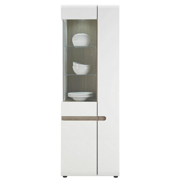 Vitrina Linate - bela/hrast tartuf, Moderno (64/195/42cm) - Mömax modern living
