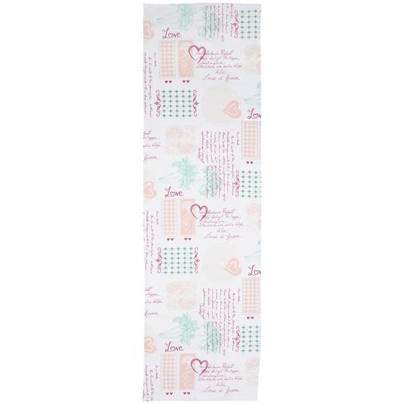 Traversă De Masă Romance-Ext - alb/bordo, Romantik / Landhaus, textil (45/150cm) - Modern Living