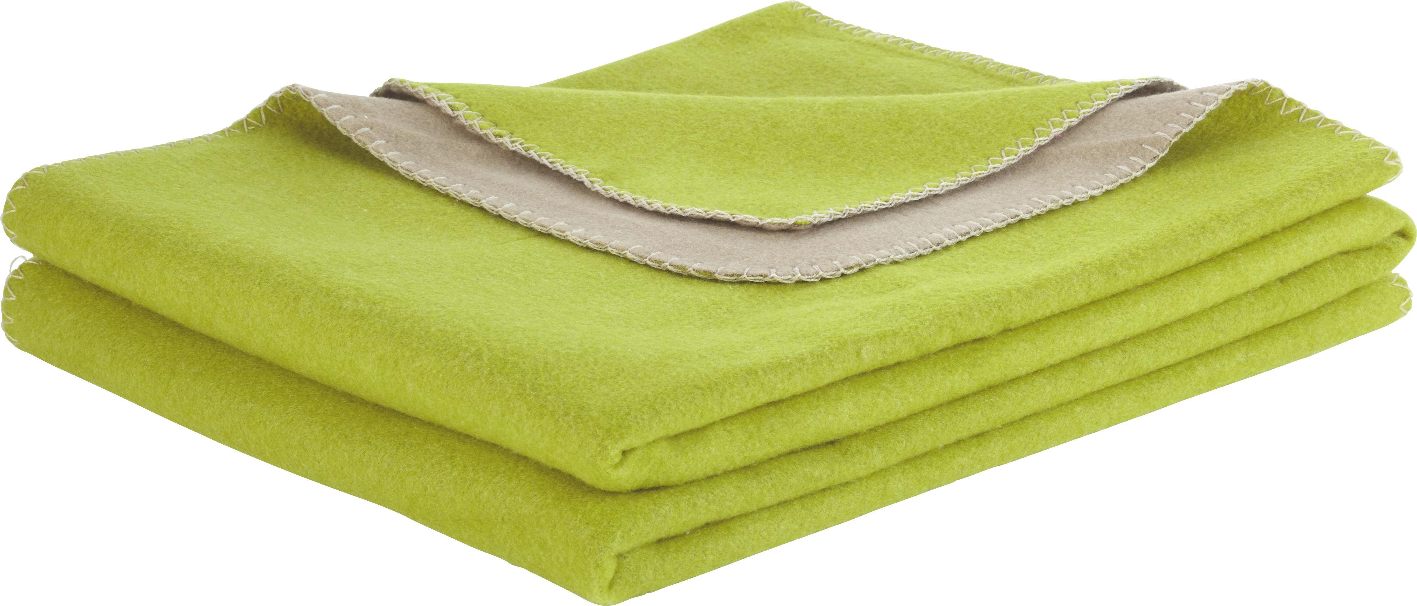 Polár Pléd Wende - világosbarna/zöld, modern, textil (150/200cm) - premium living