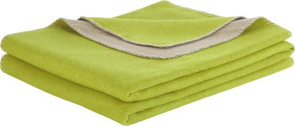 Polár Pléd Wende - Zöld/Világosbarna, modern, Textil (150/200cm) - Premium Living