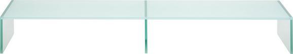 TV-Aufsatz Glas Weiß - Weiß, Glas (110/14/35cm) - Mömax modern living