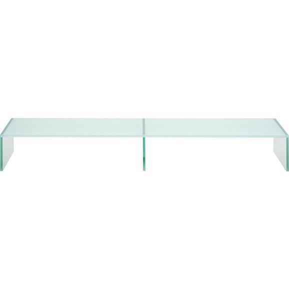 TV-Aufsatz in Weiß aus Glas - Weiß, Glas (110/14/35cm) - Mömax modern living