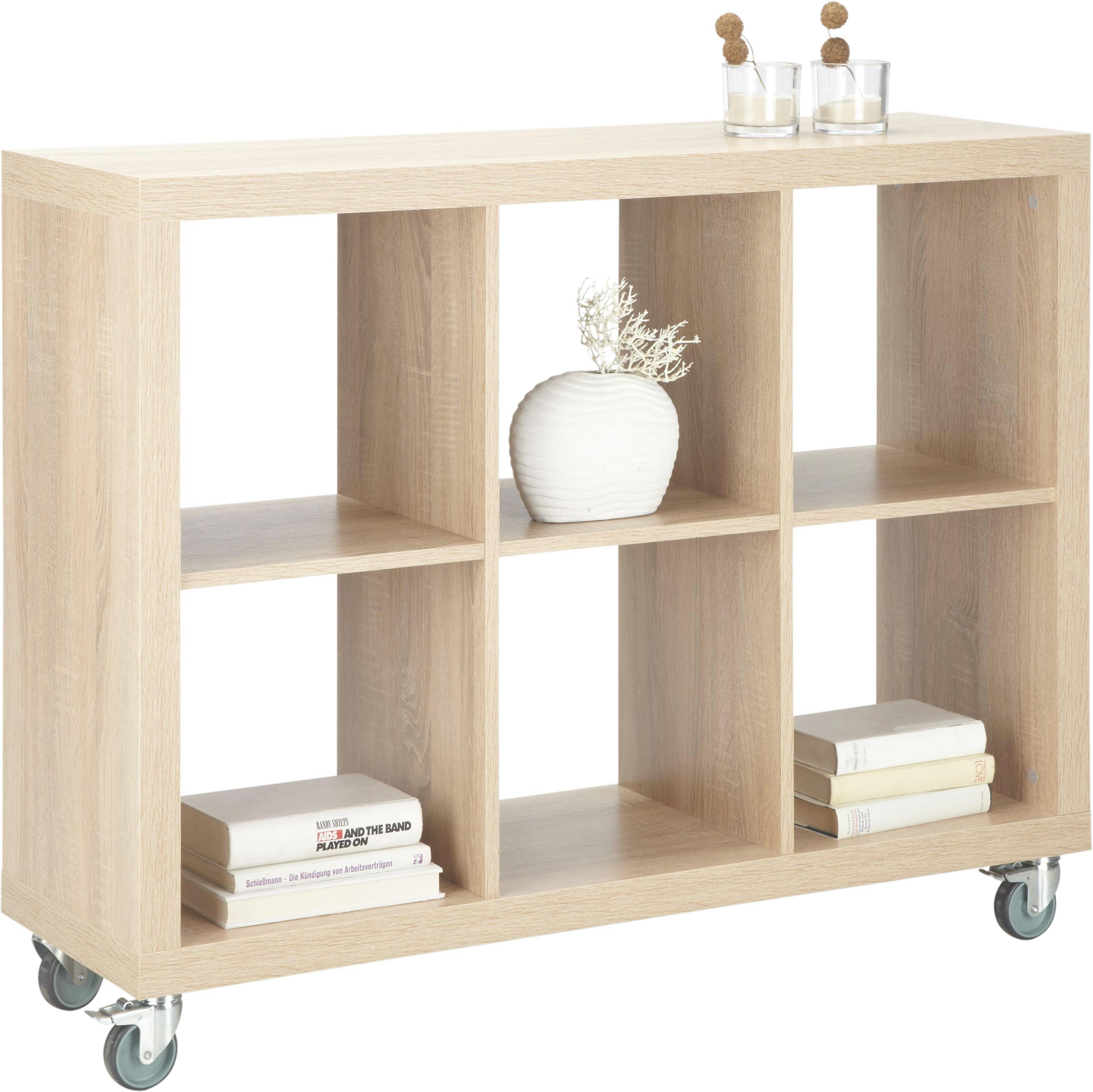 Raumteiler in Eiche Lackiert - Eichefarben/Alufarben, Holzwerkstoff (117/84/35cm) - MÖMAX modern living