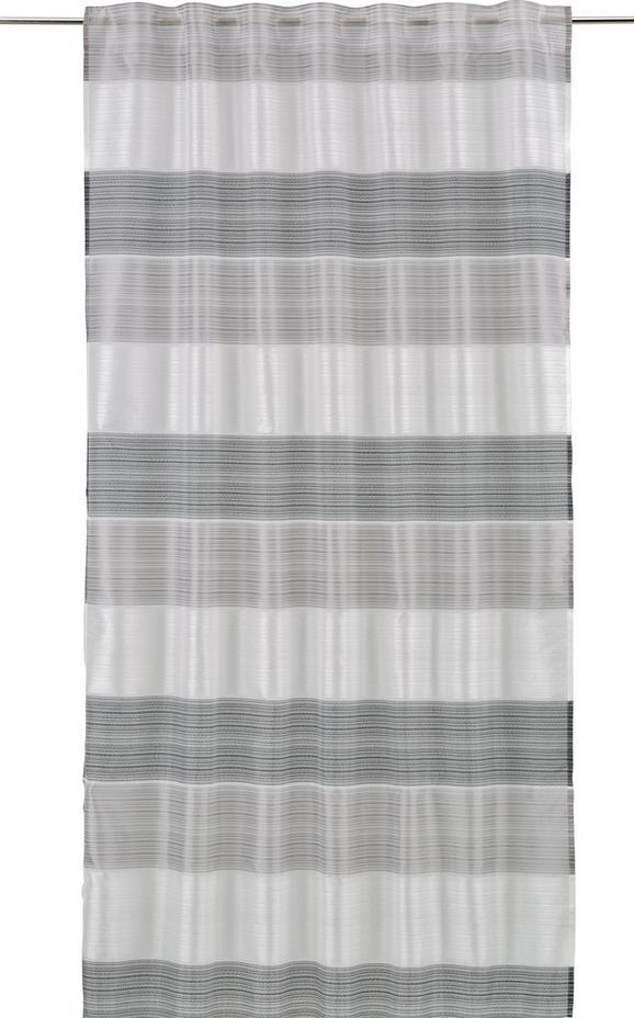 Končana Zavesa Filippo - črna/siva, Konvencionalno, tekstil (140/245cm) - Mömax modern living