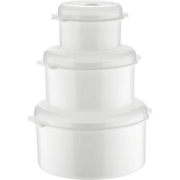 MIKROWELLENSET 3-TEILIG - Weiß, Kunststoff (0.5+1.65+2l)
