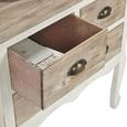 Kommode Ibiza - Naturfarben/Weiß, KONVENTIONELL, Holz/Metall (70,5/35/69cm) - Bessagi Home