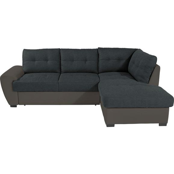 Kutna Garnitura L-oblika Burner 174x244 Cm - siva/crna, Modern, tekstil (244/174cm) - Modern Living