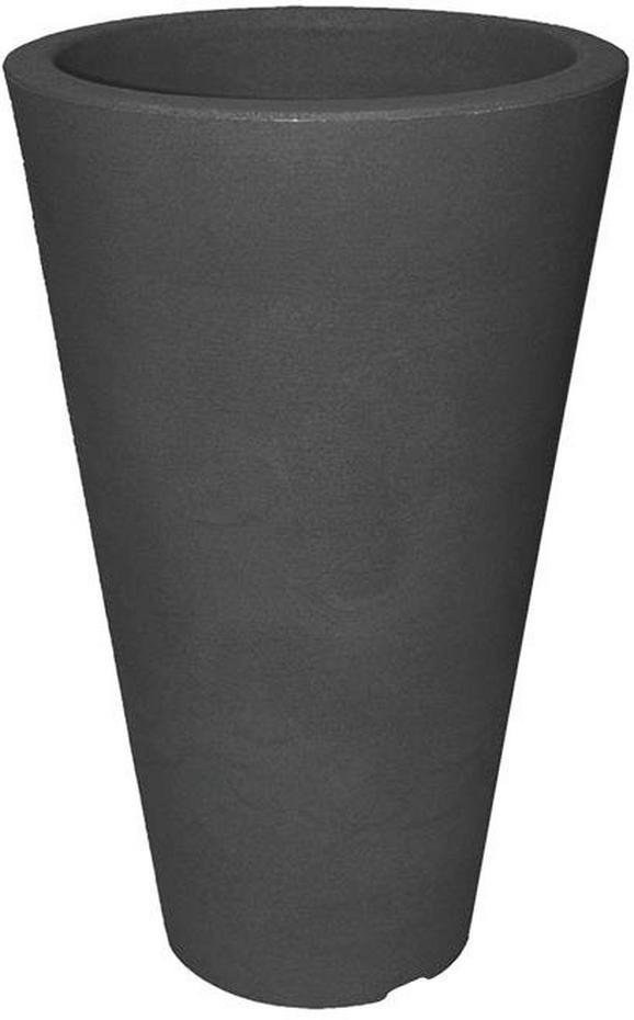 Cvetlični Lonček Capri Ii - antracit, Moderno, umetna masa (28/45cm) - Mömax modern living