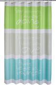 Zuhanyfüggöny Always - Zöld/Szürke, Textil (180/200cm) - Mömax modern living