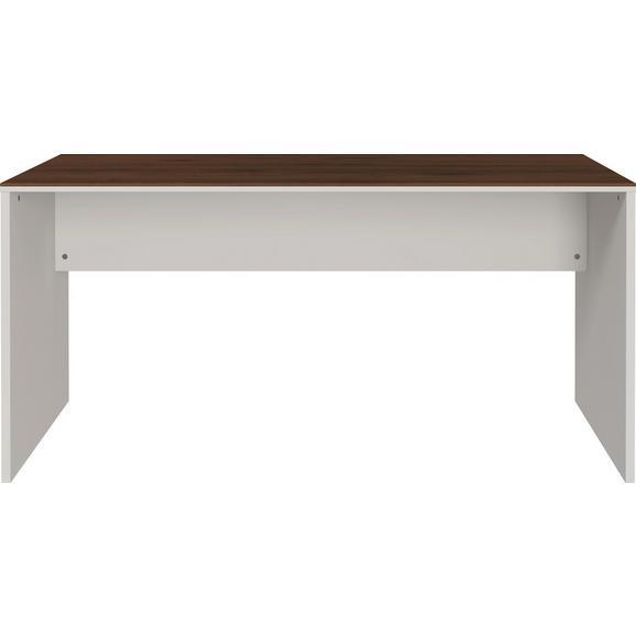 Schreibtisch in Nussbaumfarben/Kaschmir - Kaschmir/Nussbaumfarben, KONVENTIONELL, Holzwerkstoff (158/75/79cm) - Mömax modern living